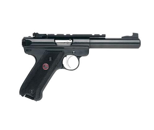 Ruger Mark III Target 22LR 5.5″ 10+1 Black Syn Grip Blue Steel